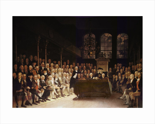 William Pitt addressing the House of Commons on the French Declaration of Wars by Anton Hickel