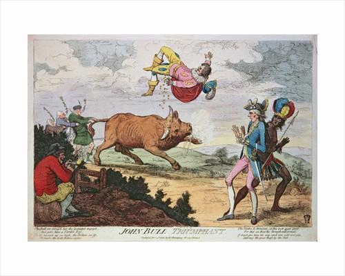 John Bull Triumphant by James Gillray