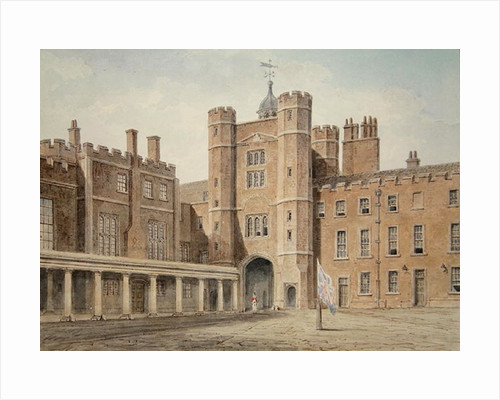 Principal Court of St.James's Palace by John Buckler