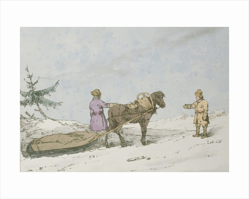 Finland Sledge by John Augustus Atkinson