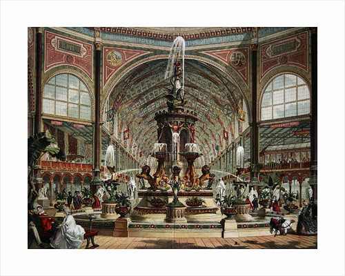 Interior of the Crystal Palace by English School