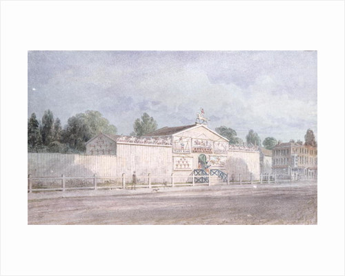 Exterior view of Astley's Amphitheatre by William Capon