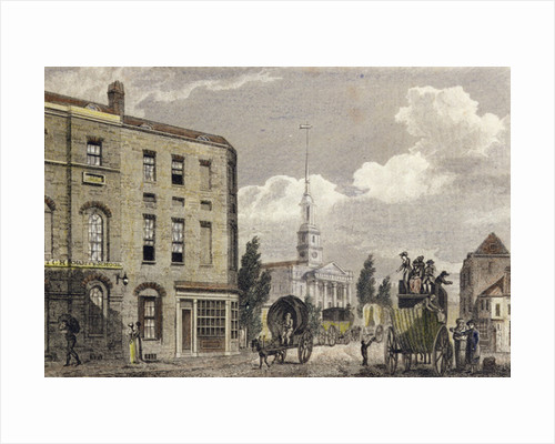 Entrance to London at Shoreditch Church by Robert Blemell Schnebbelie