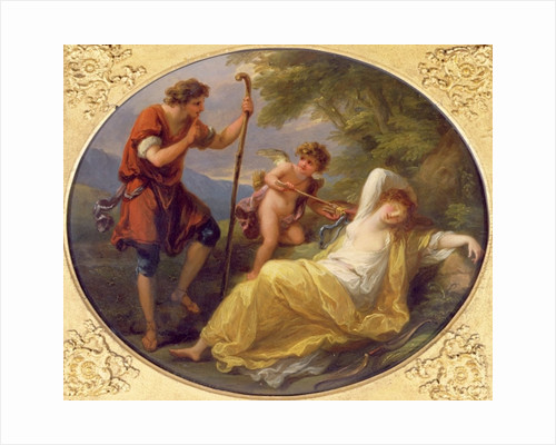 A Sleeping Nymph watched by a shepherd by Angelica Kauffmann