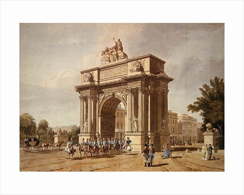 View of Wellington Arch by L. A. & Baxter