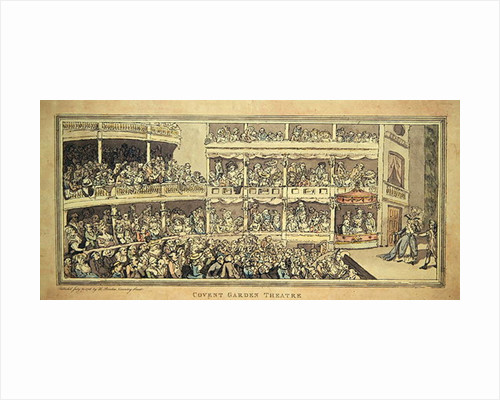 Covent Garden Theatre by English School