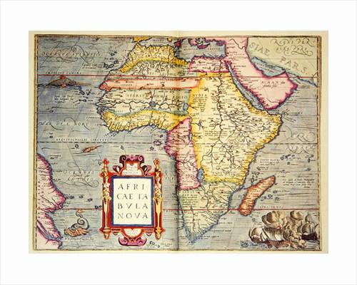 Africae tabvla nova by Abraham Ortelius