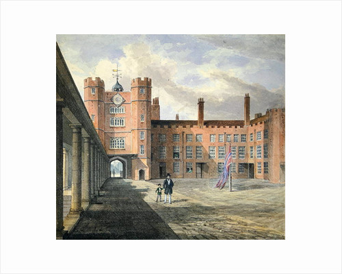 View of the courtyard at St. James's Palace by English School