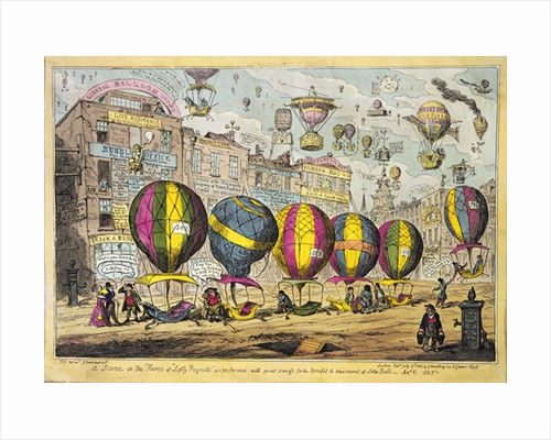 Scene in the Farce 'Lofty Prospects' as performed with great success for the Benefit and amusement of John Bull by George Cruikshank