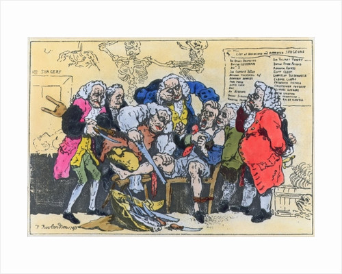 Caricature of Georgian Surgeons at work by Thomas Rowlandson