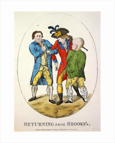 Returning from Brooks's by James Gillray