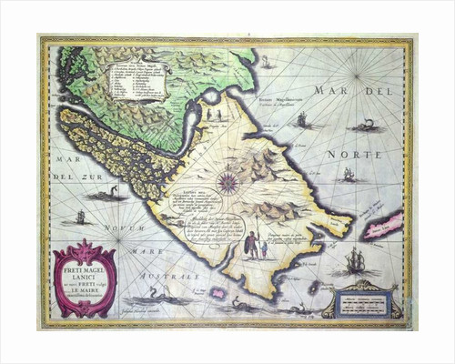 Map of the Magellan Straits, Patagonia by Dutch School