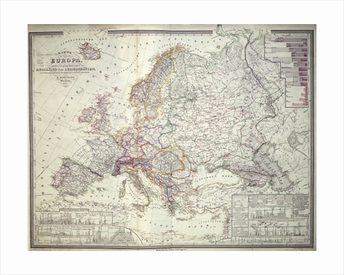 Map of Europe by German School