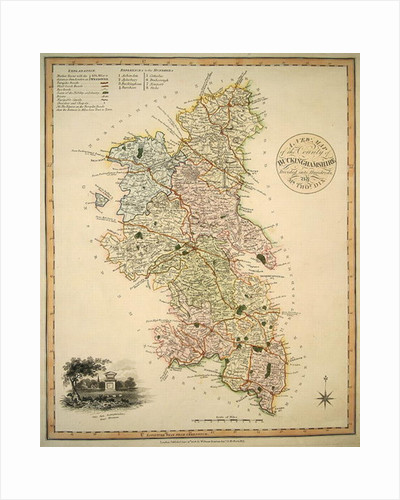 A New Map of the County of Buckinghamshire by English School