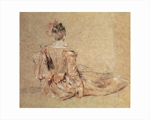 Study of a woman seen from the back by Jean Antoine Watteau