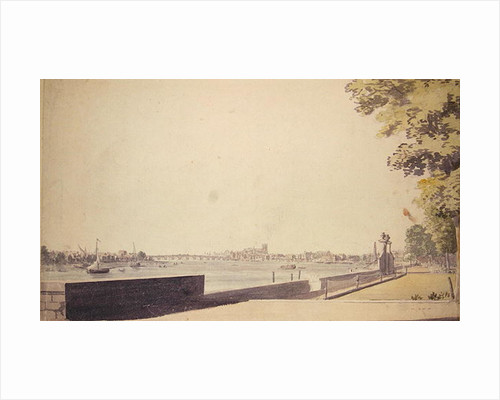 View from Somerset House Garden, looking towards Westminster Bridge by Paul Sandby