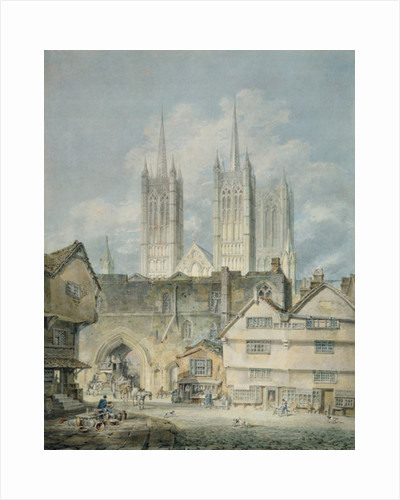 Cathedral church at Lincoln, 1795 by Joseph Mallord William Turner