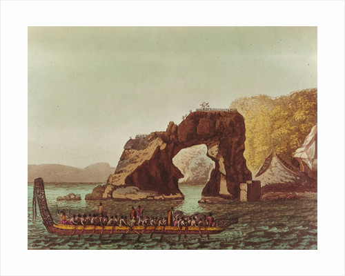 A Native Canoe by G. Castellini