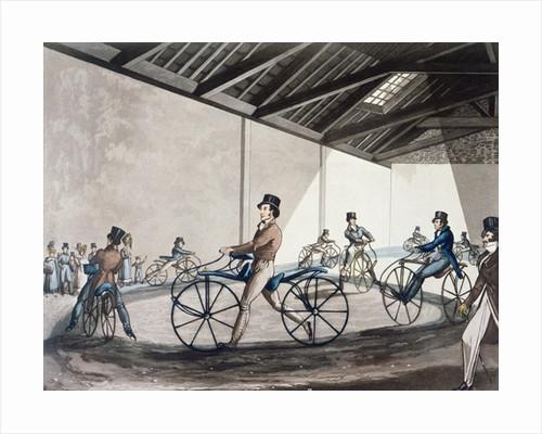 Johnson's Pedestrian Hobbyhorse Riding School by Henry Alken