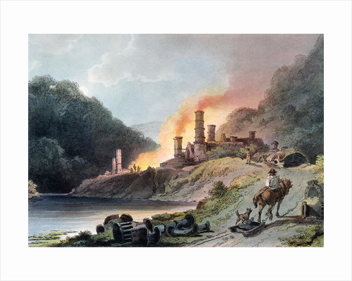 Iron Works, Coalbrookdale, engraved by William Pickett by Philippe de Loutherbourg