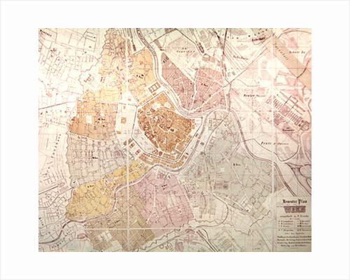 Map of Vienna by German School