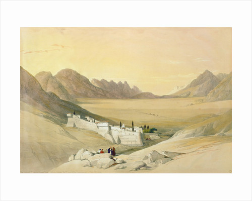 The Convent of St. Catherine, Mount Sinai, looking towards the Plain of the Encampment by David Roberts