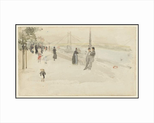 Pink and Silver - Chelsea, the Embankment, c.1885 by James Abbott McNeill Whistler