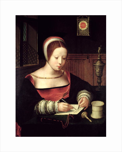 St. Mary Magdalene Writing, c.1500-50 by Master of the Female Half Lengths
