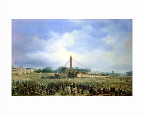 Erecting the Obelisk from Luxor in the Place de la Concorde by Francois Dubois