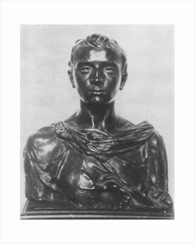 Bust of Paul Claudel as an adolescent by Camille Claudel