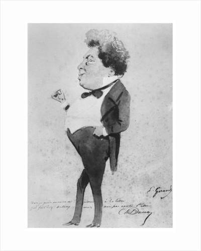 Caricature of Alexandre Dumas, Fils by Eugene Giraud