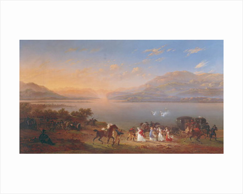 Empress Josephine arriving to visit Napoleon in Italy on the banks of Lake Garda by Hippolyte Lecomte