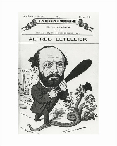 Caricature of Alfred Letellier by Henri Demare