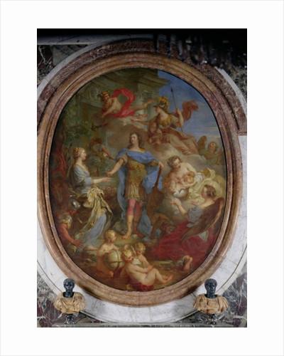 Louis XV Giving Peace to Europe by Francois Lemoyne