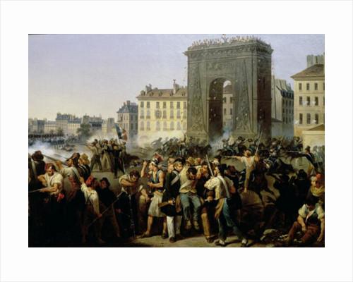 Battle at the Porte Saint-Denis by Hippolyte Lecomte