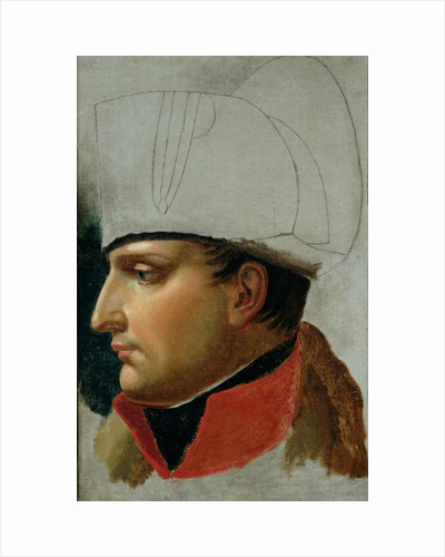 Unfinished Portrait of Napoleon I formerly attributed to Jacques Louis David by Anne Louis Girodet de Roucy-Trioson