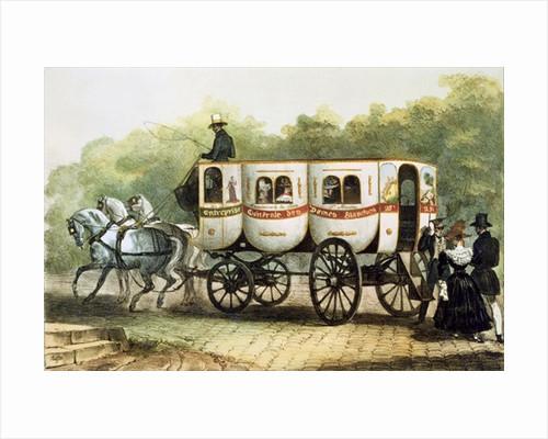 'Enterprise Generale des Dames Blanches', omnibus from Madeleine to Porte Saint-Martin by Denis-Auguste-Marie Raffet