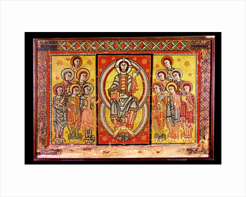 Christ in Majesty Surrounded by the Twelve Apostles by Spanish School
