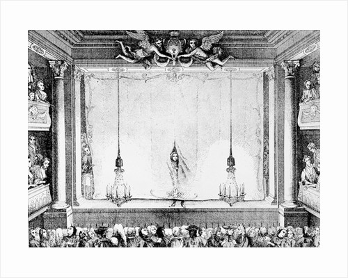 The Comedie Francaise during the Time of Moliere at the Palais Royal Auditorium by Charles Antoine Coypel