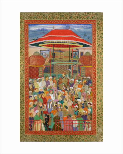 The Court Welcoming Emperor Jahangir by Mughal School