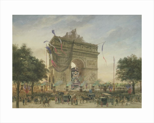 The Funeral of Victor Hugo by Georges Francois Guiaud