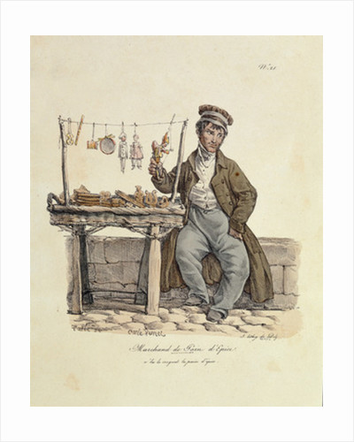 The Gingerbread Seller by Carle Vernet