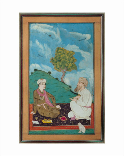 Ms D-181 fol.9 A Teacher and his Pupil by Persian School