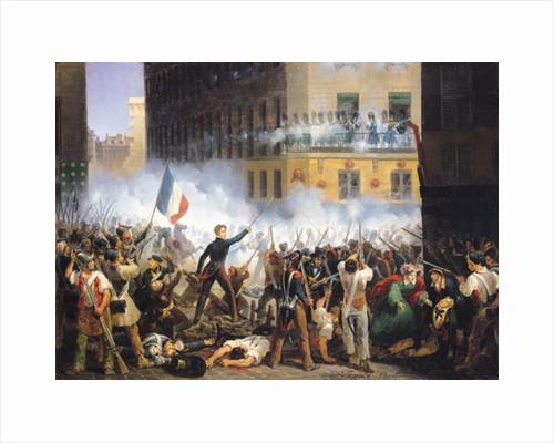 Battle in the rue de Rohan by Hippolyte Lecomte