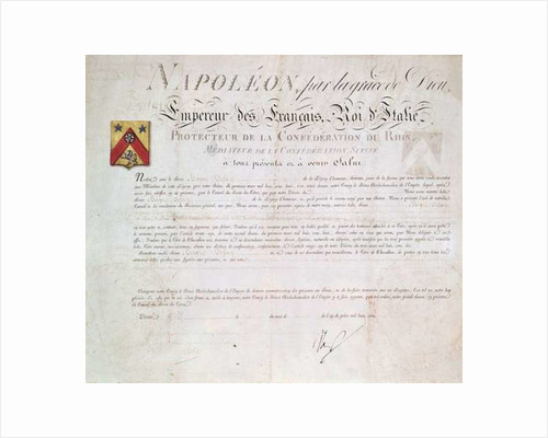 Decree of nobility created under the First Empire by French School