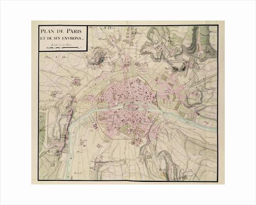 Map of Paris and its Surroundings by Sebastien Le Prestre de Vauban