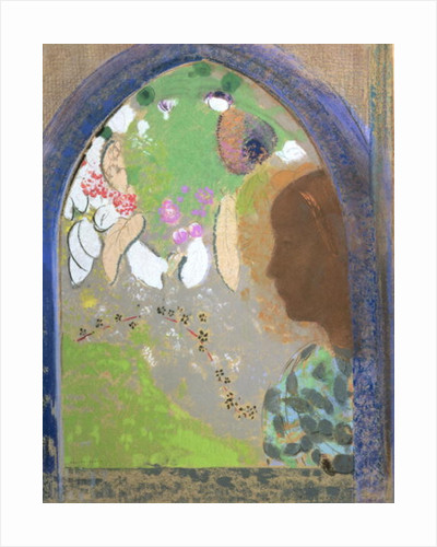 Profile of a Woman at a Window by Odilon Redon