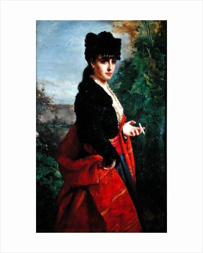 Portrait of a Spanish Woman by Heinrich Wilhelm Schlesinger
