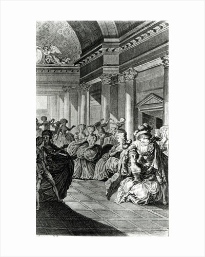 'He will return you pure and chaste to your husband', scene from Act IV of 'The Marriage of Figaro' by Pierre-Augustin Caron de Beaumarchais engraved by Claude Nicolas Malapeau 1785 by Jacques Philippe Joseph de Saint-Quentin