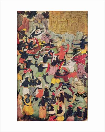 Battle Between the Armies of Rama and Ravana, Moghul by Indian School